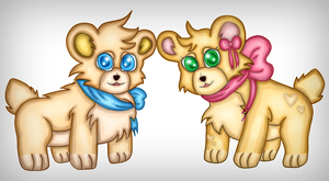 Baxter and Bonnie (kiriban prize) by Creedovich