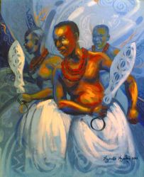 Bennin Royal Dance African Art by Ayeola Ayodeji by awizzy