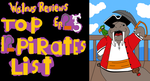 Walrus Reviews top 12 pirates list  title card by TheWalrusclown