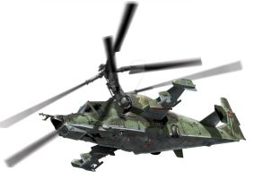 Kamov Ka-50 drawing by araeld
