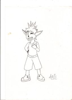 Crash Bandicoot (personified) by HopeOfLeoEX