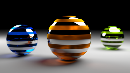 Coloured Cristal Spheres (Full HD) by Dario999