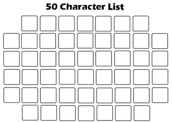 Favorite 50 Character List Template by KoopaKidDS