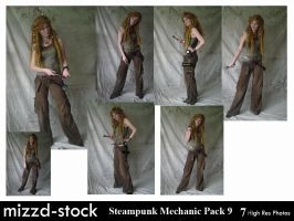 Steampunk Mechanic Pack 9 by mizzd-stock