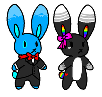 [CHEAP] Chibi Bunny adopts: CLOSED by pika-ad0pts