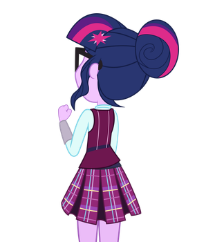 Sci-Twi Singing Out Window Vector by SolyWack