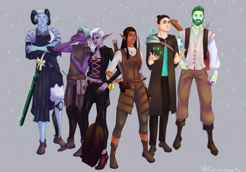 A Dice Party by GlassLotuses