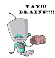 GIR likes brains by NeoCypo