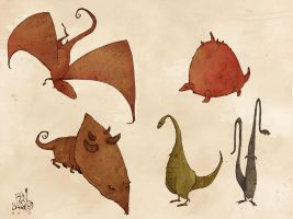 some kind of dinosaurs by BenBASSO