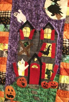 Haunted House Quilt by PeriwinklePaisley