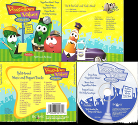 VeggieTown Values On the Job! CD Cover Scans by SuperPanty276