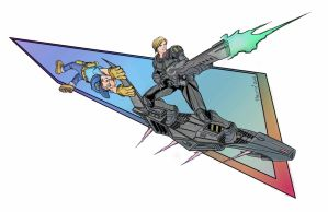 Sergeant Calhoun and Fix it Felix jr.- color by RobPaolucci