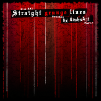 Straight Grunge Lines Brushes by DieheArt