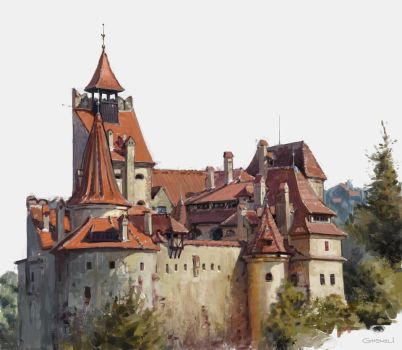 Bran castle by vladgheneli