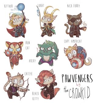 The Pawvengers by thecrowkid