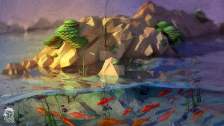 pond low poly by conzitool
