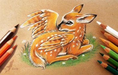 Winged fawn by AlviaAlcedo