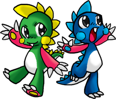bubble bobble: bub and bob by TabbyWesa