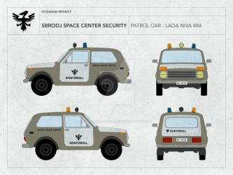 SBRODJ SPACE CENTER - SECURITY VEHICLE LADA NIVA by droneaircraftconcept