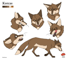 Character Sheet - Korcas by BlueHunter