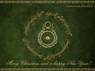 LotR Christmas Card by AmarieVeanne