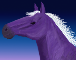 Purple Horse Portrait by jennego