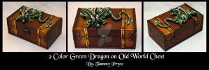 Ooak Polymer Clay Brown dragon on Old World style by Tpryce