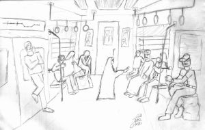 A glance in the Metro train by algohary