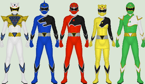 Shikon Sentai Kyokuger, P5: Full team. by Omega-King-DX