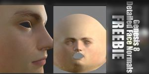 Genesis 8 Male Detailed Face Normals  FREEBIE by Florentmoon
