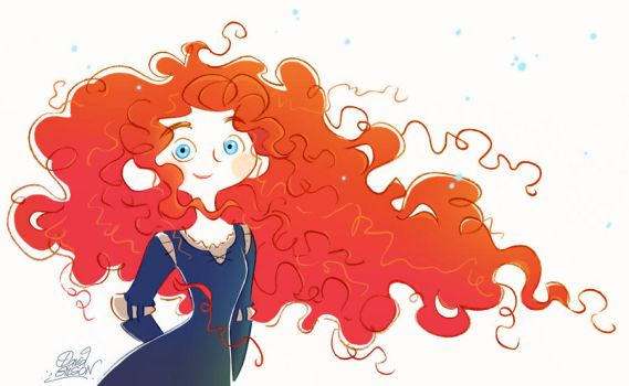 New Pixar's Merida doodle from Brave by princekido