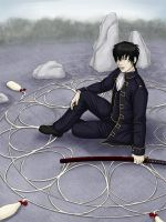 Hijikata in the Garden of Mayo by gpalmer