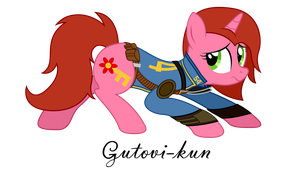 Commission - Fallout Equestria - Cherry Pin by Gutovi
