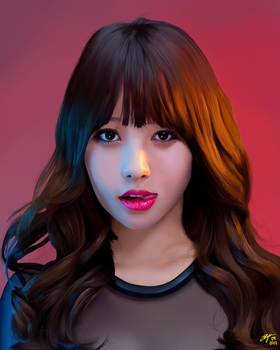 Girls Day Yura fanart 2017 by ElyMK