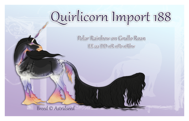 Quirlicorn Import 188 - Auction by Astralseed