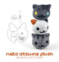 Neko Atsume Plush Sewing Pattern by SewDesuNe