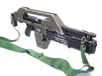 Custom Airsoft M41a Aliens Pulse Rifle by SuicideNeil