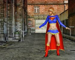 Supergirl Test by Roy3D