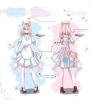 [Mascot OC] Relia REFS + outfits by Helahney