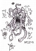 Lovecraftian monster #1 by Aggrotard