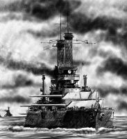 USS TEXAS by MichelCat