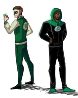 Casual Green Lanterns by Izzymatic