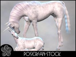 Animals 001 Unicorns by poserfan-stock