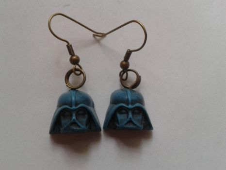 Turquoise Darth Vader Earrings by tyney123