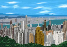 Hong Kong from the Peak by DungeonWarden