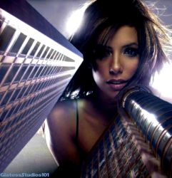 Giantess Eva Longoria Hi There by GiantessStudios101