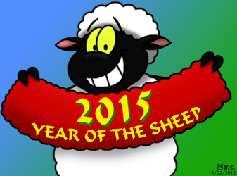 2015 - Year of the Sheep by BluebottleFlyer