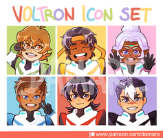 Voltron Icon Set by Damare