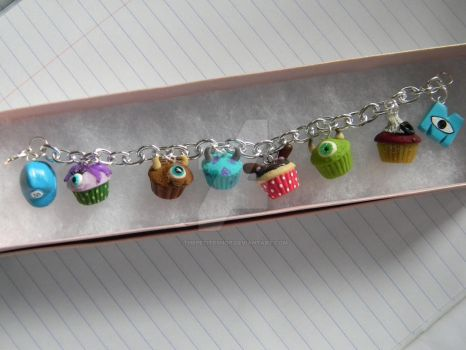 Monsters Inc. Cupcake Bracelet-Polymer Clay-Etsy by ThePetiteShop