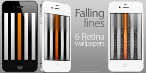 Falling lines - 6 Retina wallpapers by KillingTheEngine